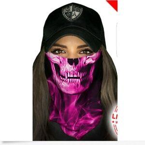SA Pink Crow Tubular Bandana face & sun shield